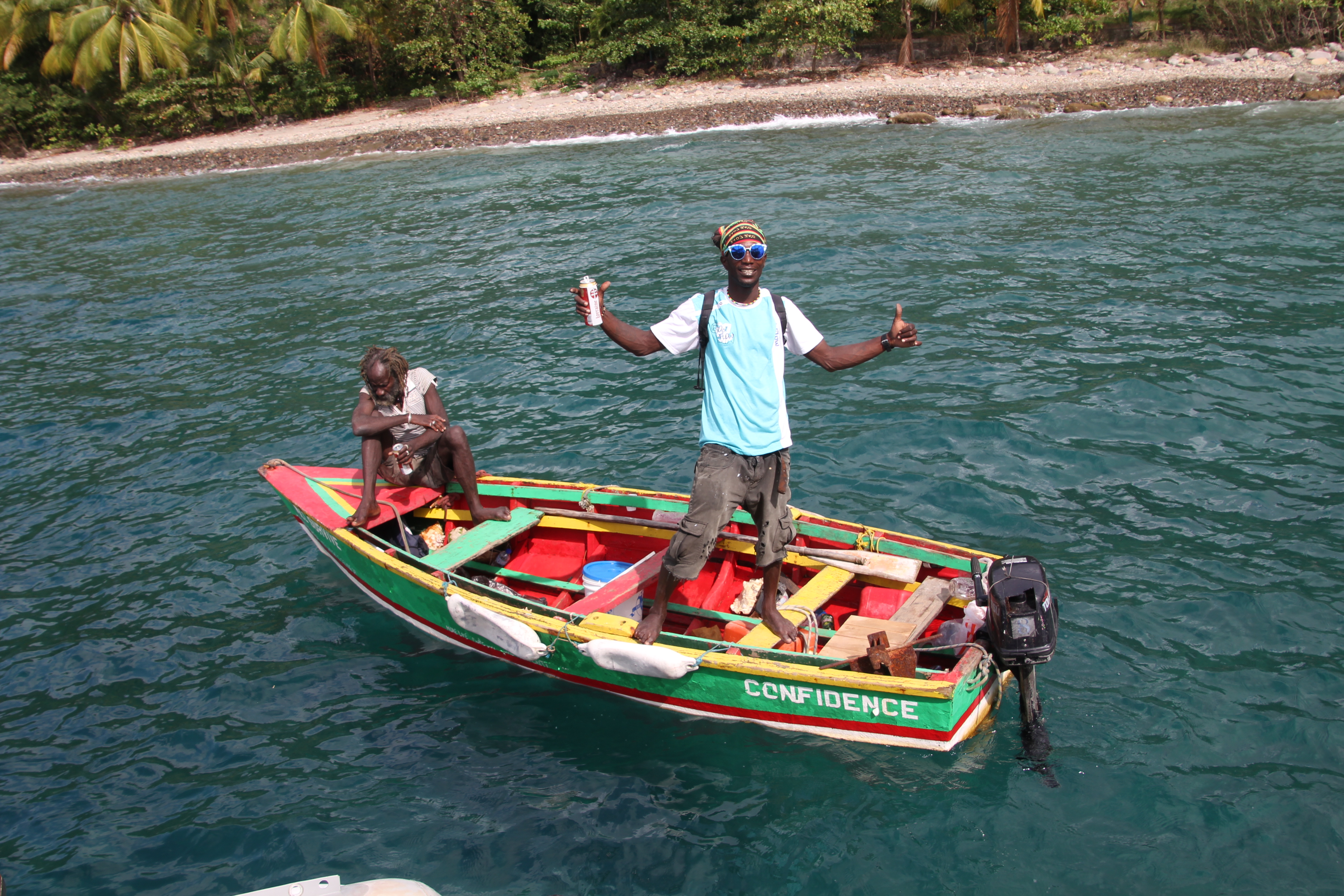 Muschelverkäufer in der Karibik